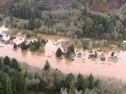 Lincoln County Oregon 1999 Siletz River Flood