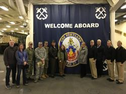 County Emergency Managers Continue Planning Efforts With Federal Partners - Tour USS Portland