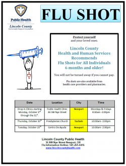 Flu Clinic times in October